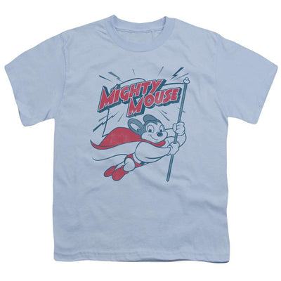Mighty Mouse Mighty Flag Youth T-Shirt (Ages 8-12)