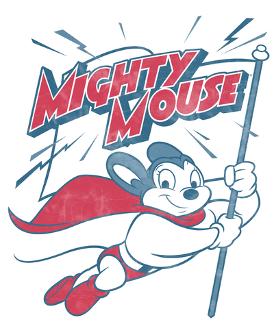 Mighty Mouse Mighty Flag Juniors T-Shirt