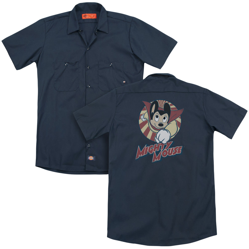 Mighty Mouse The One The Only Adult Work Shirt