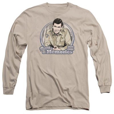 Andy Griffith Thanks For The Memories Men's Long Sleeve T-Shirt