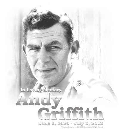 Andy Griffith In Loving Memory Juniors T-Shirt
