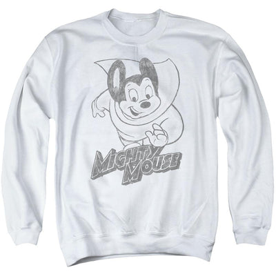 Mighty Mouse Mighty Sketch Men's Crewneck Sweatshirt