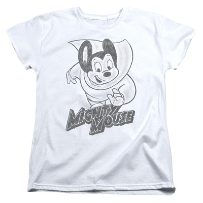 Mighty Mouse Mighty Sketch Women's T-Shirt