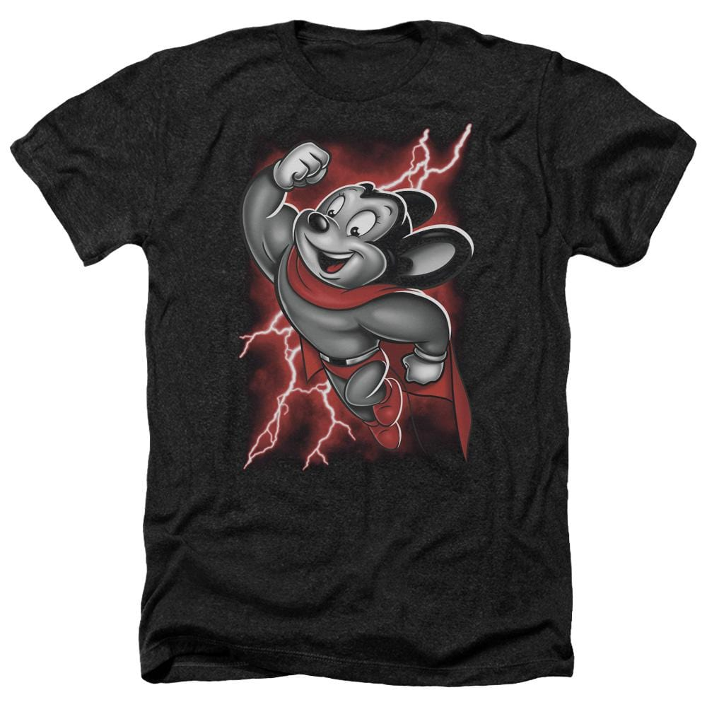Mighty Mouse Mighty Storm Adult Regular Fit Heather T-Shirt