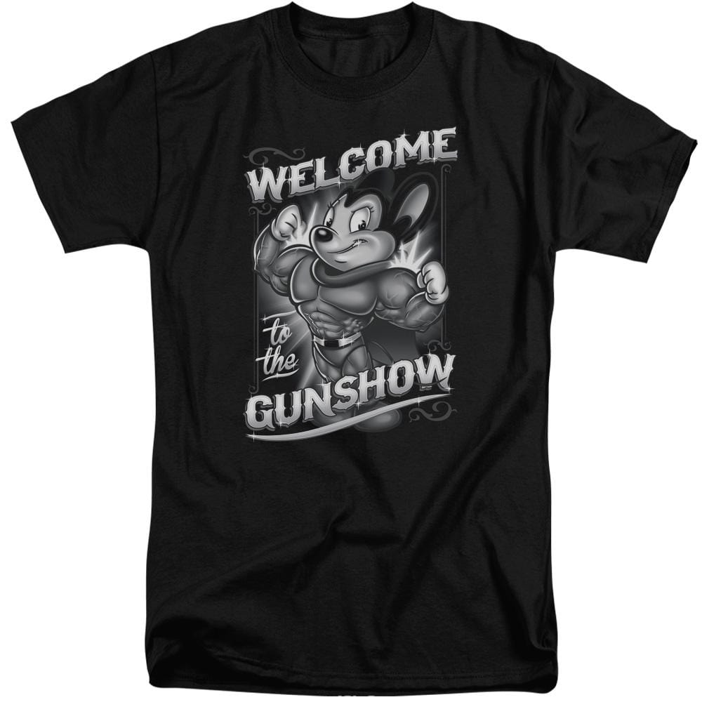 Mighty Mouse Mighty Gunshow Adult Tri-Blend T-Shirt