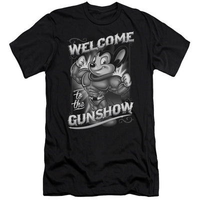 Mighty Mouse Mighty Gunshow Men's Premium Slim Fit T-Shirt