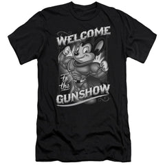 Mighty Mouse Mighty Gunshow Premium Adult Slim Fit T-Shirt