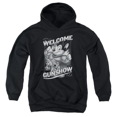 Mighty Mouse Mighty Gunshow Youth Hoodie (Ages 8-12)