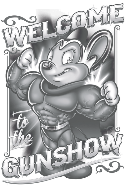 Mighty Mouse Mighty Gunshow Men's Heather T-Shirt