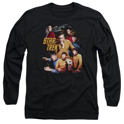 Star Trek At The Controls Men's Long Sleeve T-Shirt
