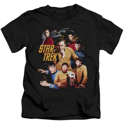 Star Trek At The Controls Kid's T-Shirt (Ages 4-7)