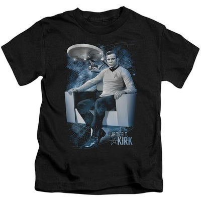 Star Trek Captains Chair Kid's T-Shirt (Ages 4-7)