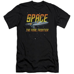 Star Trek Space Premium Adult Slim Fit T-Shirt