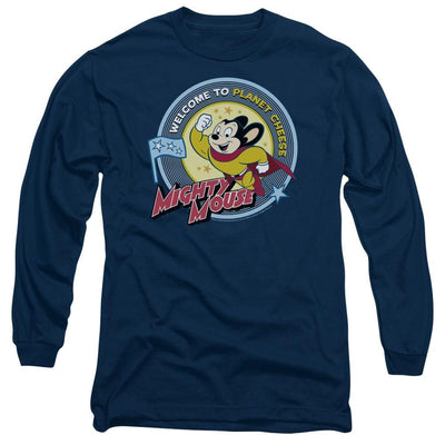 Mighty Mouse Planet Cheese Men's Long Sleeve T-Shirt