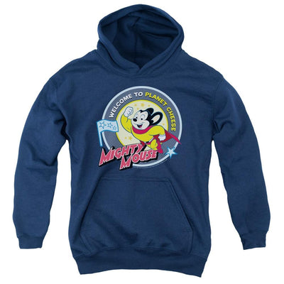 Mighty Mouse Planet Cheese Youth Hoodie (Ages 8-12)