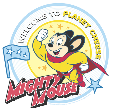Mighty Mouse Planet Cheese Kid's T-Shirt (Ages 4-7)