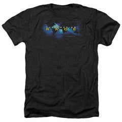 Amazing Race Faded Globe Adult Regular Fit Heather T-Shirt