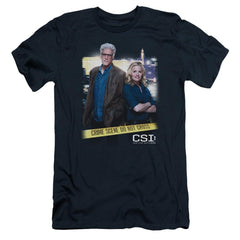 Csi Do Not Cross Adult Slim Fit T-Shirt