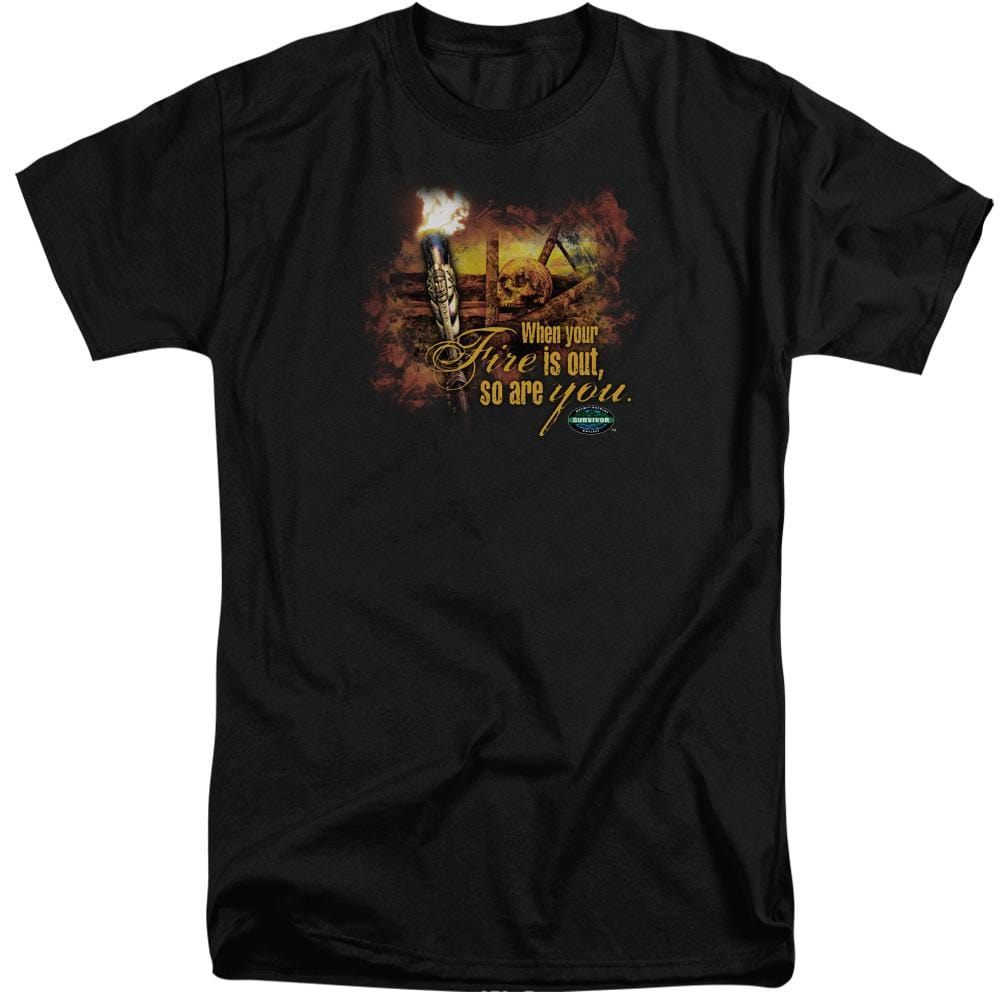 Survivor Fires Out Adult Tall Fit T-Shirt