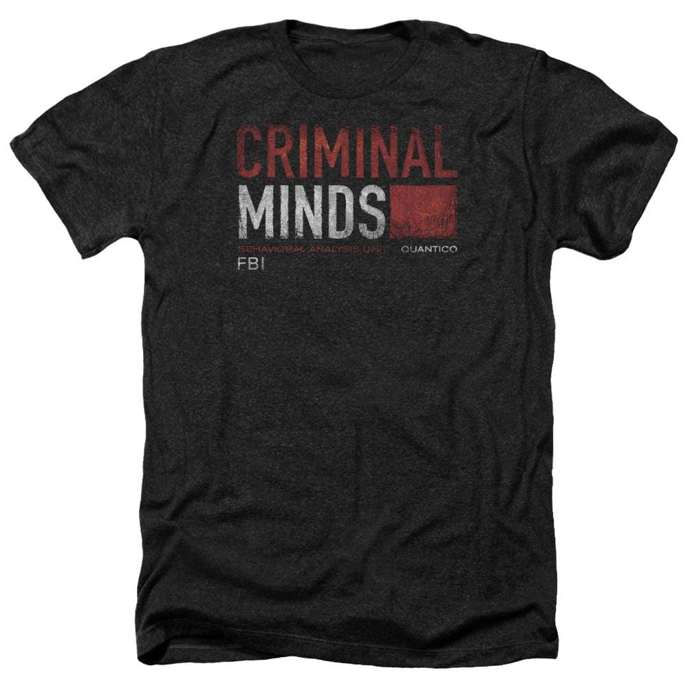 Criminal Minds Title Card Adult Regular Fit Heather T-Shirt