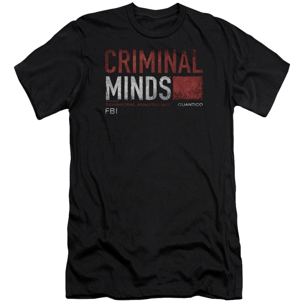 Criminal Minds Title Card Premium Adult Slim Fit T-Shirt