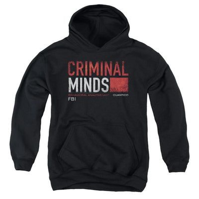 Criminal Minds Title Card Youth Hoodie (Ages 8-12)