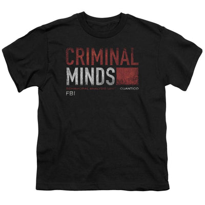 Criminal Minds Title Card Youth T-Shirt (Ages 8-12)