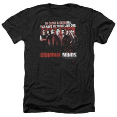Criminal Minds Think Like One Adult Regular Fit Heather T-Shirt