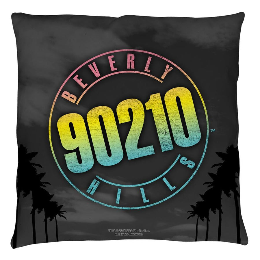 90210 Palms Logo Throw Pillow - Sons of Gotham