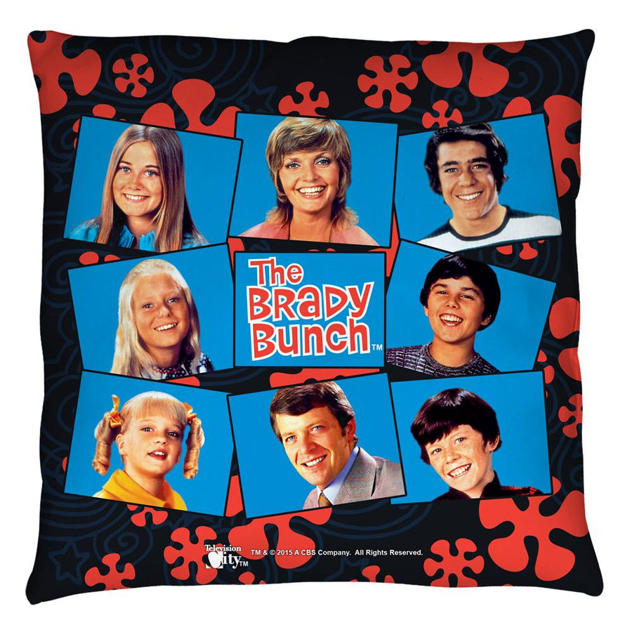 Brady Bunch Squares Throw Pillow
