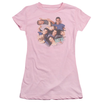 Beverly Hills 90210 Gang In Logo Juniors T-Shirt