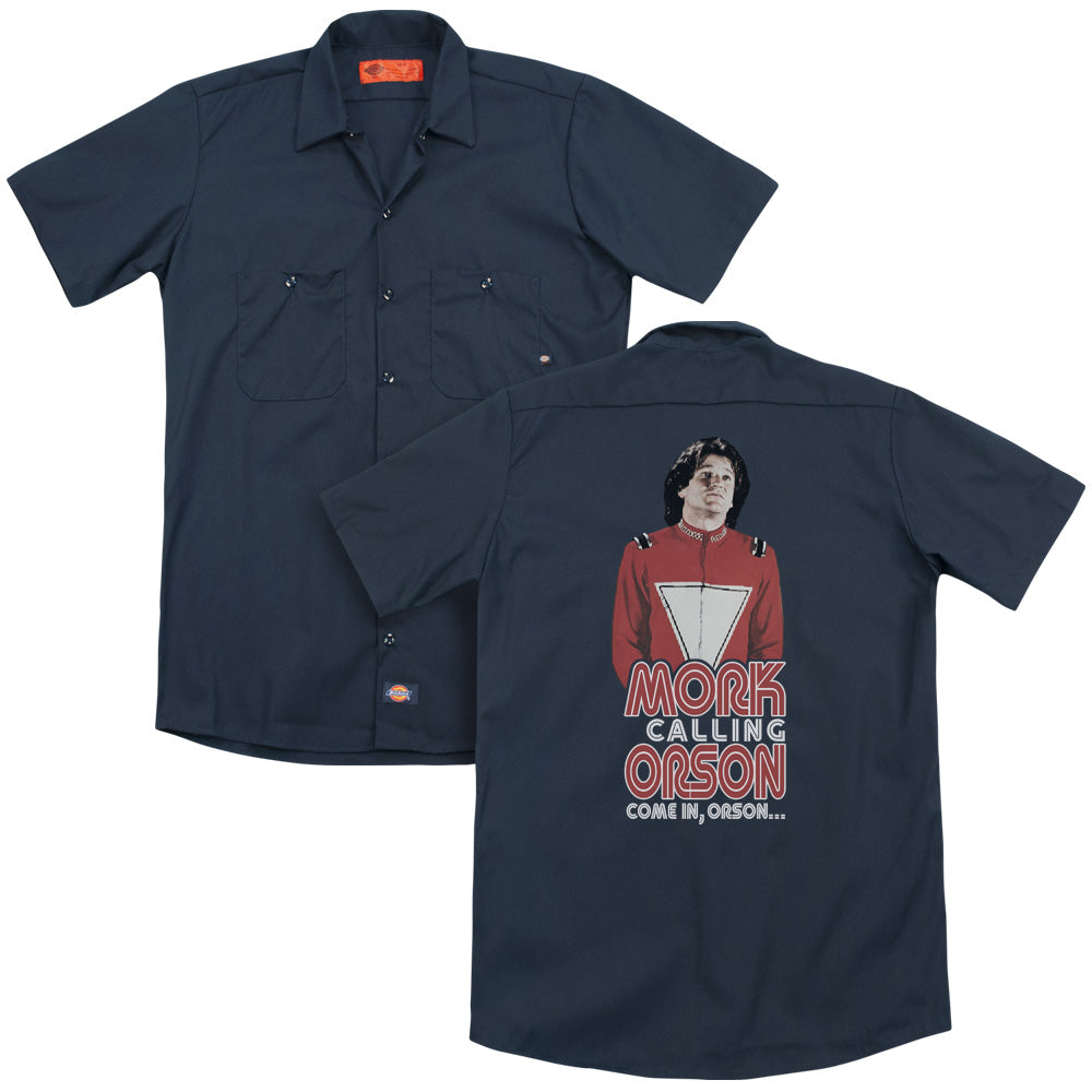 Mork & Mindy Come In Orson Adult Work Shirt