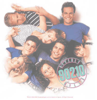 Beverly Hills 90210 Gang In Logo Youth T-Shirt (Ages 8-12)