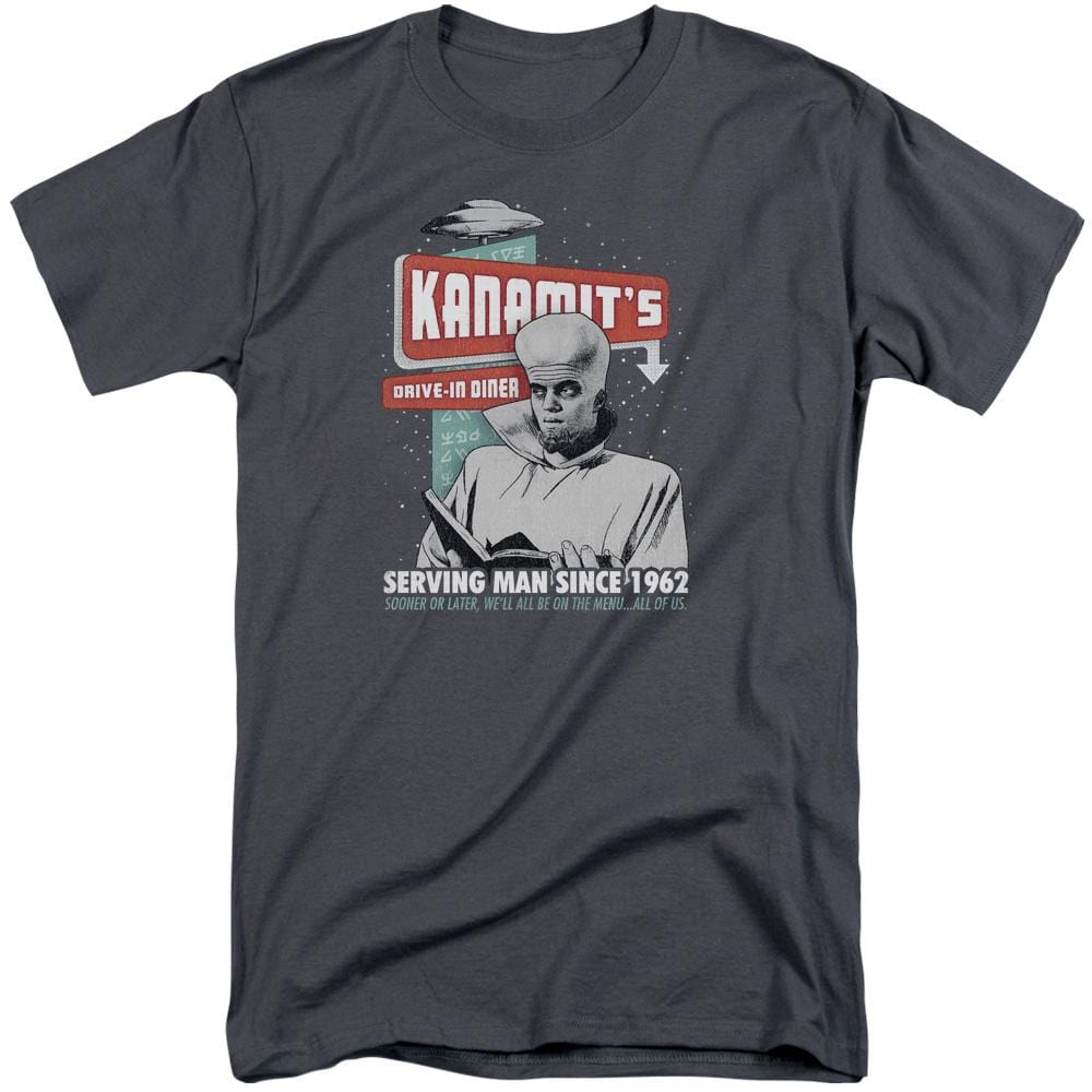 Twilight Zone Kanamits Diner Adult Tall Fit T-Shirt