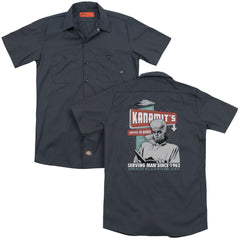 Twilight Zone Kanamits Diner Adult Work Shirt