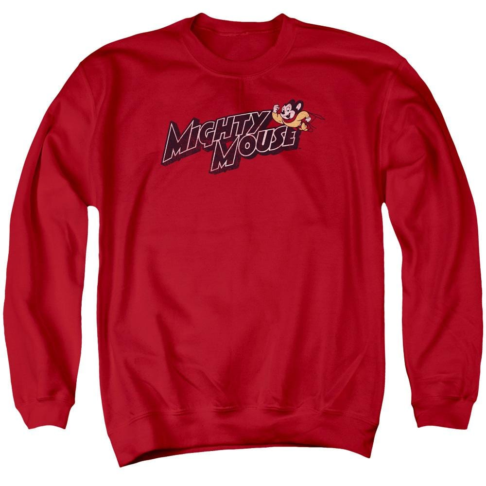 Mighty Mouse Might Logo Men's Crewneck Sweatshirt