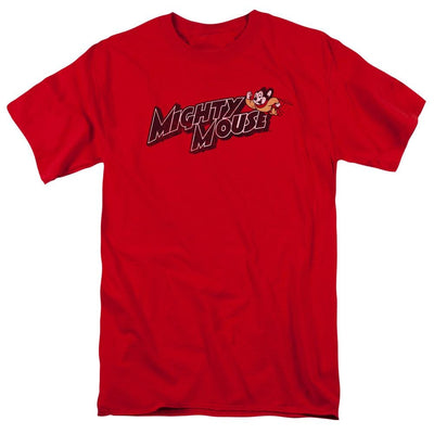 Mighty Mouse Might Logo Men's Regular Fit T-Shirt