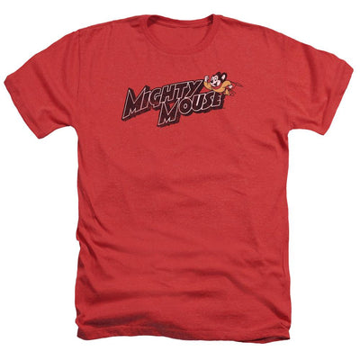 Mighty Mouse Might Logo Men's Heather T-Shirt