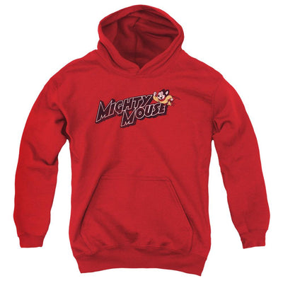 Mighty Mouse Might Logo Youth Hoodie (Ages 8-12)