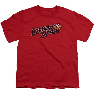 Mighty Mouse Might Logo Youth T-Shirt (Ages 8-12)