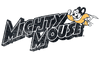 Mighty Mouse Might Logo Men's Slim Fit T-Shirt