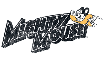 Mighty Mouse Might Logo Juniors T-Shirt