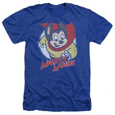 Mighty Mouse Mighty Circle Men's Heather T-Shirt