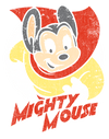 Mighty Mouse Mighty Circle Juniors T-Shirt