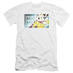 Mighty Mouse Mighty Rectangle Premium Adult Slim Fit T-Shirt