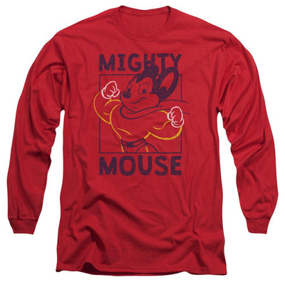 Mighty Mouse Break The Box Men's Long Sleeve T-Shirt