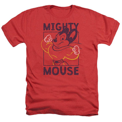 Mighty Mouse Break The Box Men's Heather T-Shirt