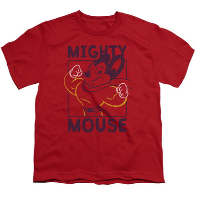 Mighty Mouse Break The Box Youth T-Shirt (Ages 8-12)