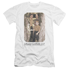Andy Griffith Tree Photo Premium Adult Slim Fit T-Shirt