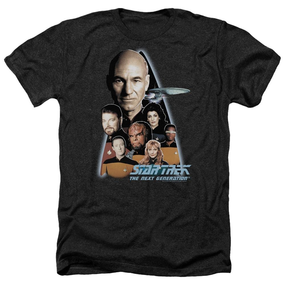 Star Trek The Next Generation Adult Regular Fit Heather T-Shirt
